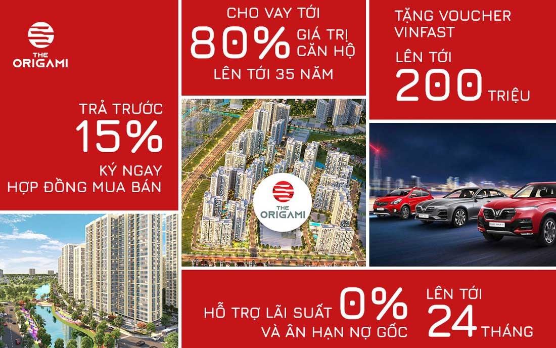 Chính sách bán căn hộ chung cư The Origami mới nhất tháng 10 năm 2020