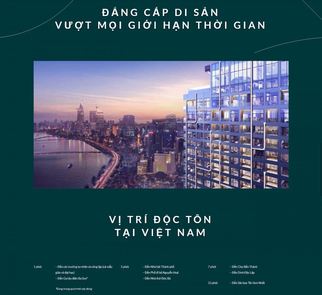 Grand Marina sở hữu vị trí độc tôn tại Sài Gòn Ba Son Quận 1