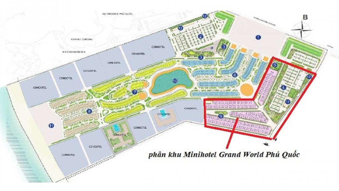 Vị trí dự án Grand World Phú Quốc