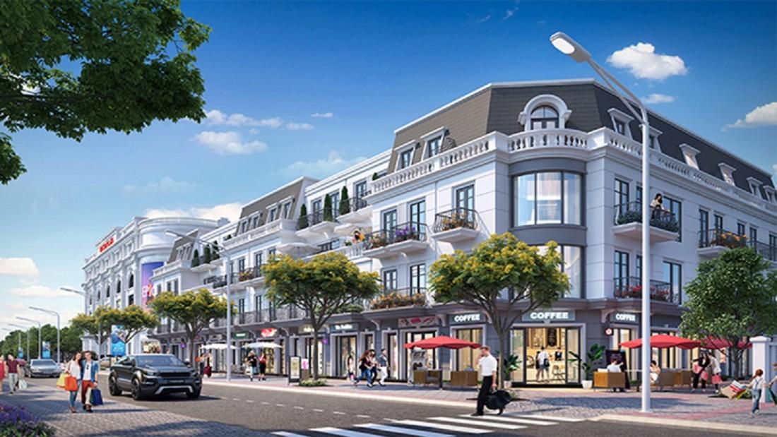 Shophouse tọa lạc tại mặt tiền các tuyến đường nội khu Vinhomes Dream City Hưng Yên
