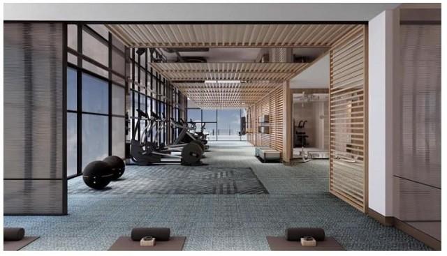 Trang thiết bị phòng gym hiện đại