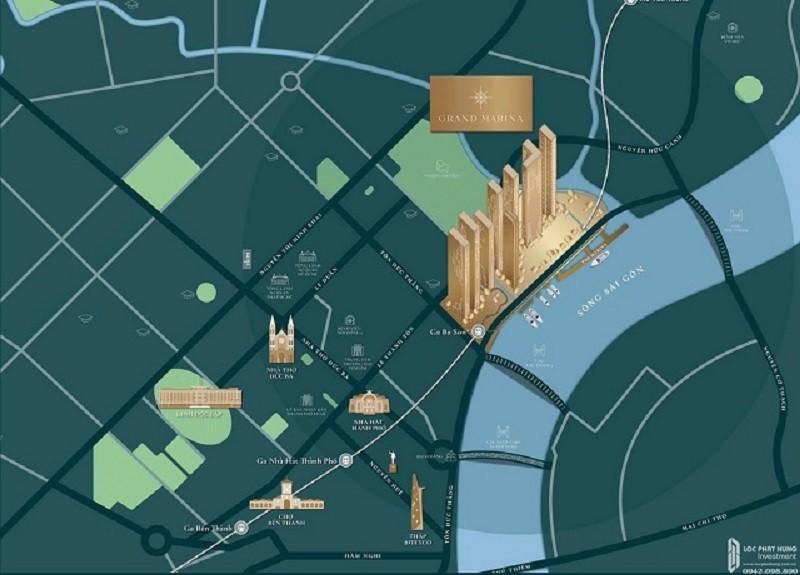 Vị trí Grand Marina Masterise có một không 1 của khu vực quận 1 TPHCM