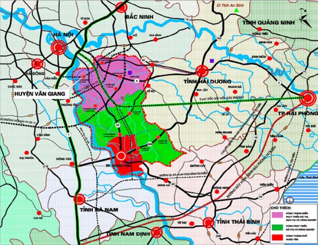Vinhomes Dream City Hưng Yên được bao quanh bởi mạng lưới liên kết vùng chặt chẽ