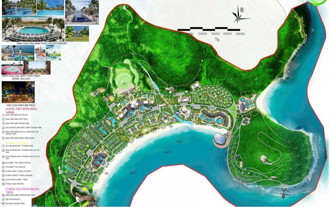 Chi tiết mặt bằng tổng thể dự án Vinpearl Làng Vân Đà Nẵng