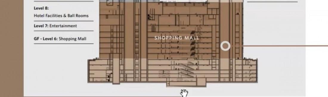 Chi tiết thiết kế mặt bằng tầng khối đế của hai tòa tháp One Central