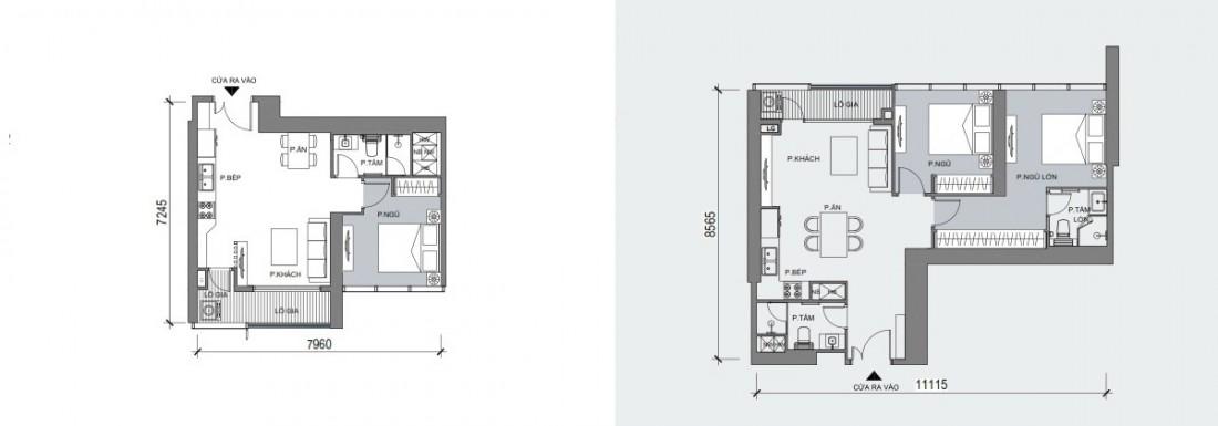 Dự kiến mặt bằng điển hình mẫu căn hộ Officetel sẽ được xây dựng trong One Central SaiGon