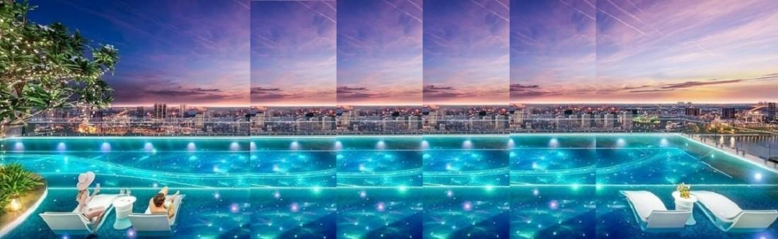 Khu bể bơi tràn bờ đẳng cấp, hiện đại với view nhìn đẹp mắtKhu bể bơi tràn bờ đẳng cấp, hiện đại với view nhìn đẹp mắt